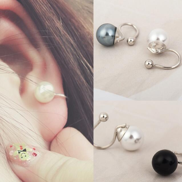 simulated pearl clip on earrings no pierced earcuff gothic ear cuffs for women ear clip orecchini clip earrings no hole ear cuff in Clip Earrings from Jewelry Accessories