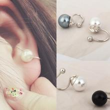 simulated pearl clip on earrings no pierced earcuff gothic ear cuffs for women orecchini hole cuff
