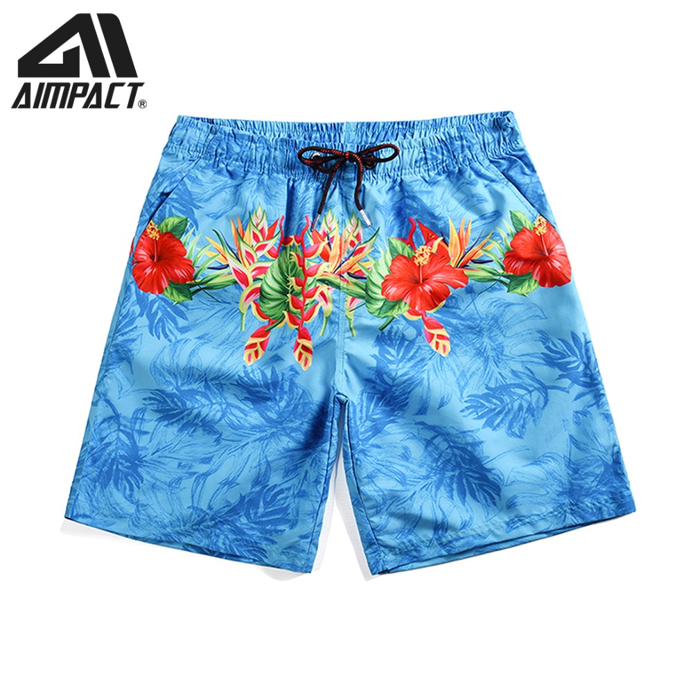 Quick Dry Beachwears for Men Flower   Board     Shorts   Summer Surf Swimming   Shorts   Male 2019 New Swim Trunks Hybird   Shorts   AM2112