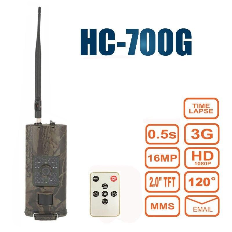 Nouvelle caméra de chasse de sentier infrarouge HC700G 940nm 16MP 3G GPRS MMS SMTP SMS 1080 P Vision nocturne