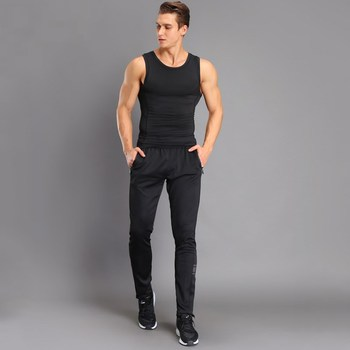 Breathable Jogging Pants Men Fitness Joggers Running Pants With Zip Pocket Training Sport Pants For Running Tennis Soccer Play 4