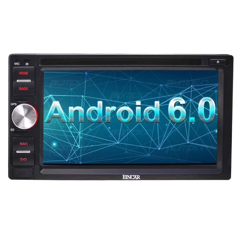 """6.2"""" Android 6.0 Double Din In Dash DVD CD Player Bluetooth WiFi GPS Support Mirror-Link/Steering Wheel Control+External Micro"""