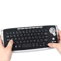 E30 2.4GHz Wireless Keyboard MINI 79 Keys Remote Control with Trackball Mouse Scroll Wheel for Smart Android TV BOX TV Notebook
