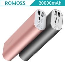 Original ACE20 ROMOSS Banco de la Energía 20000 mAh Cargador Portátil USB Dual Del Banco Externo de La Batería 20000 para Teléfonos Móviles y Tabletas