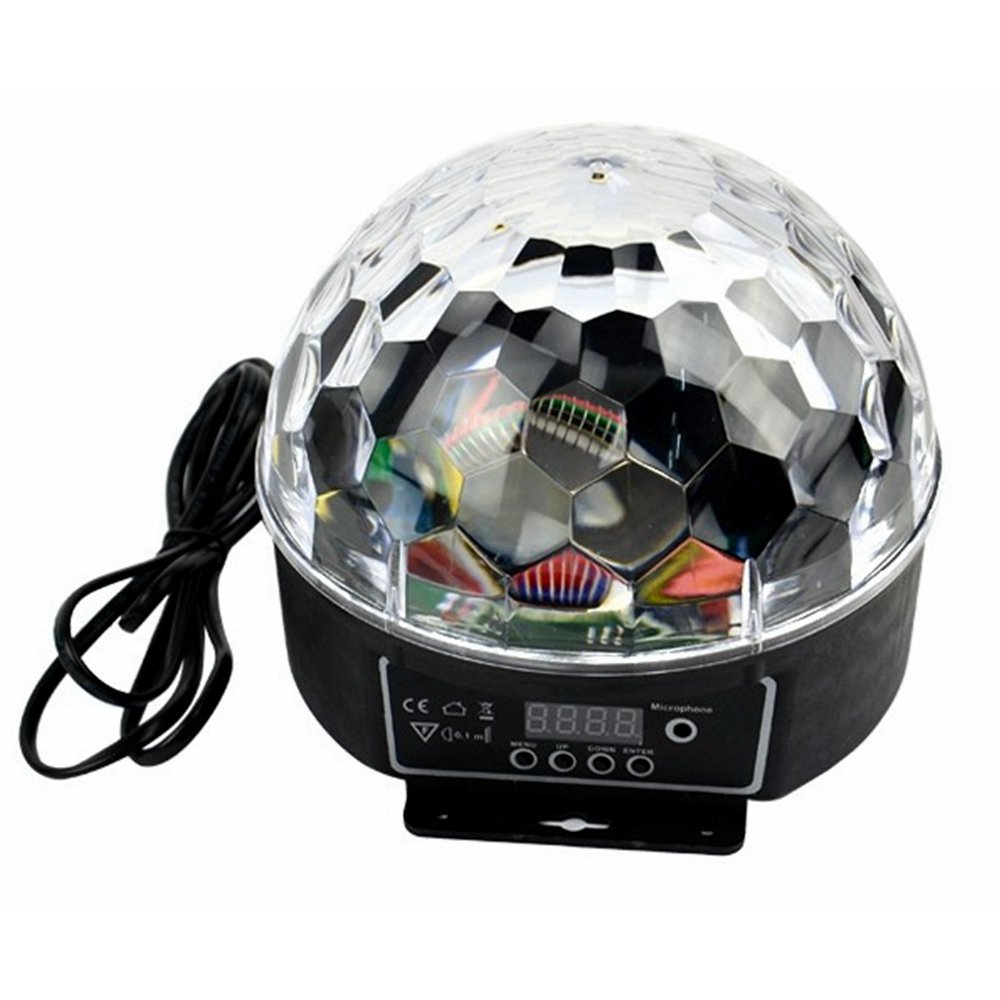 Mini DMX512 LED Party Lights Portable Crystal Magic Ball Home Party Karaoke Decorations Colorful Stage LED Disco Light For Home