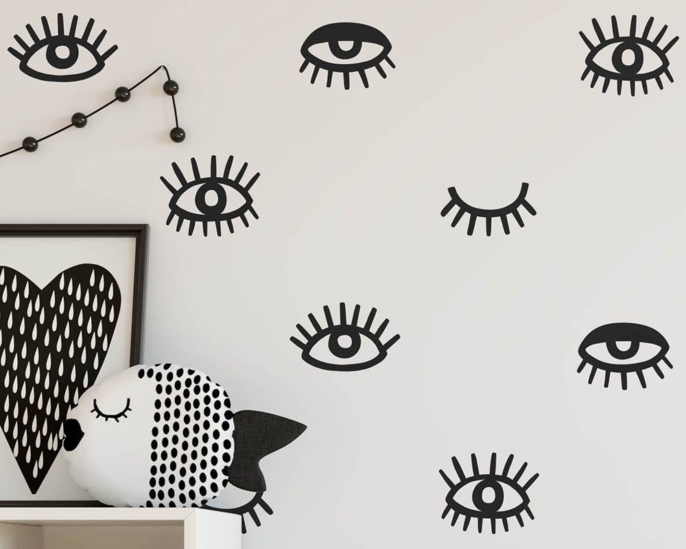Eyes wall decals eyelash vinyl wall decals modern unique wall eyes wall decals eyelash vinyl wall decals modern unique wall stickers for kids room baby nursery decor muraux a728 in wall stickers from home garden on amipublicfo Images