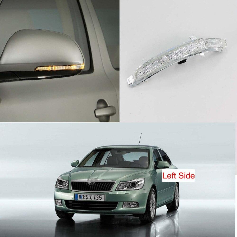 LED Mirror Light For Skoda Octavia A5 A6 2009 2010 2011 2012 2013 Left Side Rear Mirror LED Turn Signal Indicator Light Lamp
