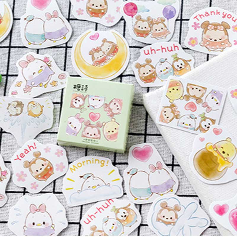 45 Pcs/box Cute Pet Stickers Kawaii Japan Planner Decoration Paper Sticker DIY Album Diary Stationary Scrapbooking Label Sticke