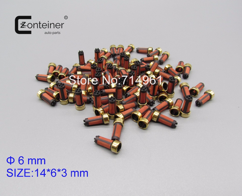 100pcs/set In Yellow Bag Auto Spare Parts Fuel Injector Micro Filter Case For Japanese Car MD619962