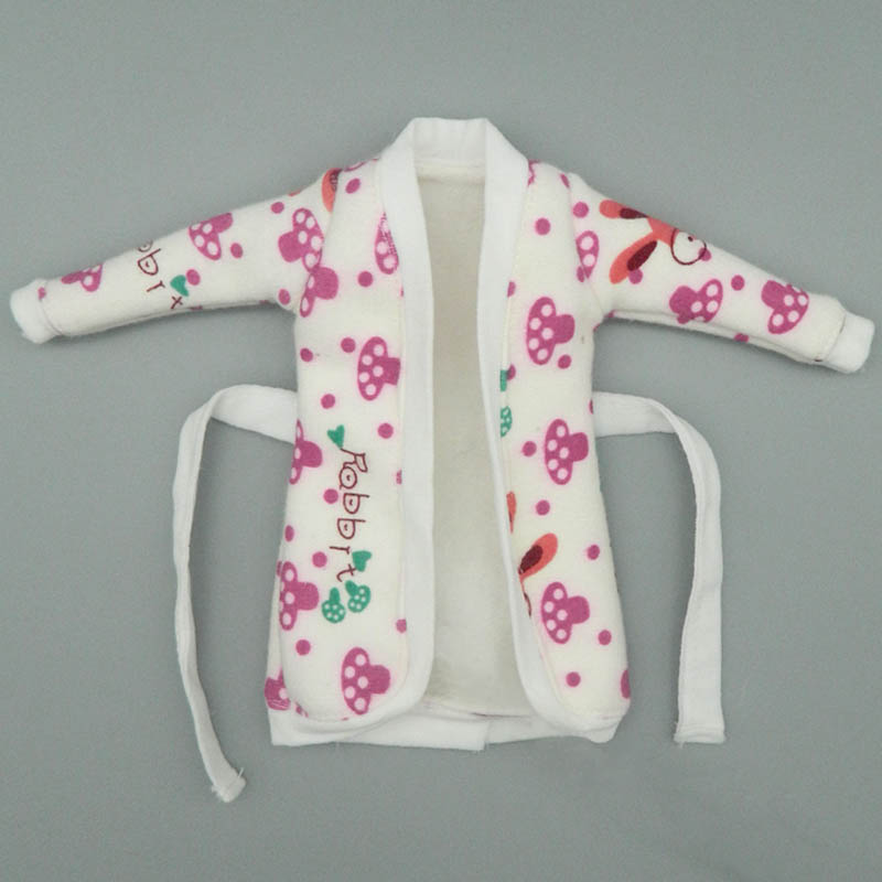 Mini Doll Accessories Bathrobe Bathroom Suits Winter Pajama Wear Sleeping Casual Clothes For Barbie Doll Play House Toys maternity pajama hot robes autumn winter pregnant woman unisex home coral fleece pajama comfortable solid pockets women bathrobe