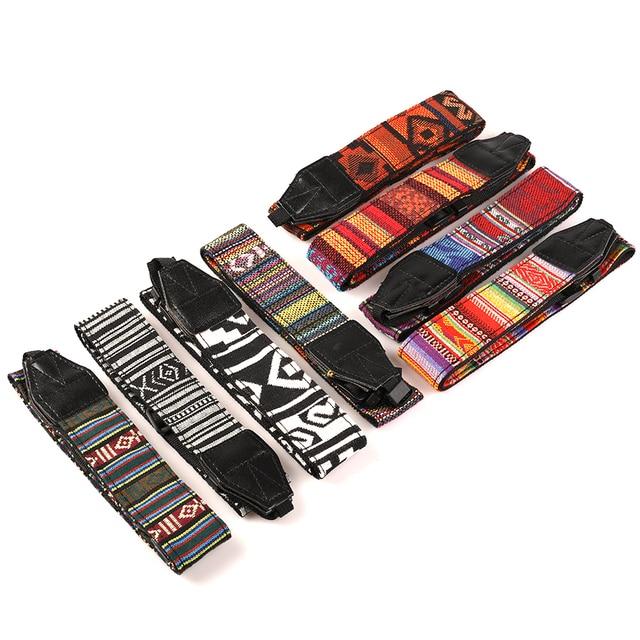 Kaliou Style ethnique appareil Photo sangle colorée coton Yard motif sangle de cou DSLR bandoulière bandoulière pour Canon Nikon Sony stylo