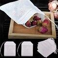 5,5 piezunids/lote Teabags 100x7 cm Bolsas de té perfumadas vacías infusor con hilo de papel de filtro de sellado para hierbas sueltas bolsitas de té de te