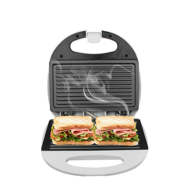 DSP White Household Kitchen Appliances 2 Slice Electric Sandwich Maker Non  Stick Coating Easy Clean 750W