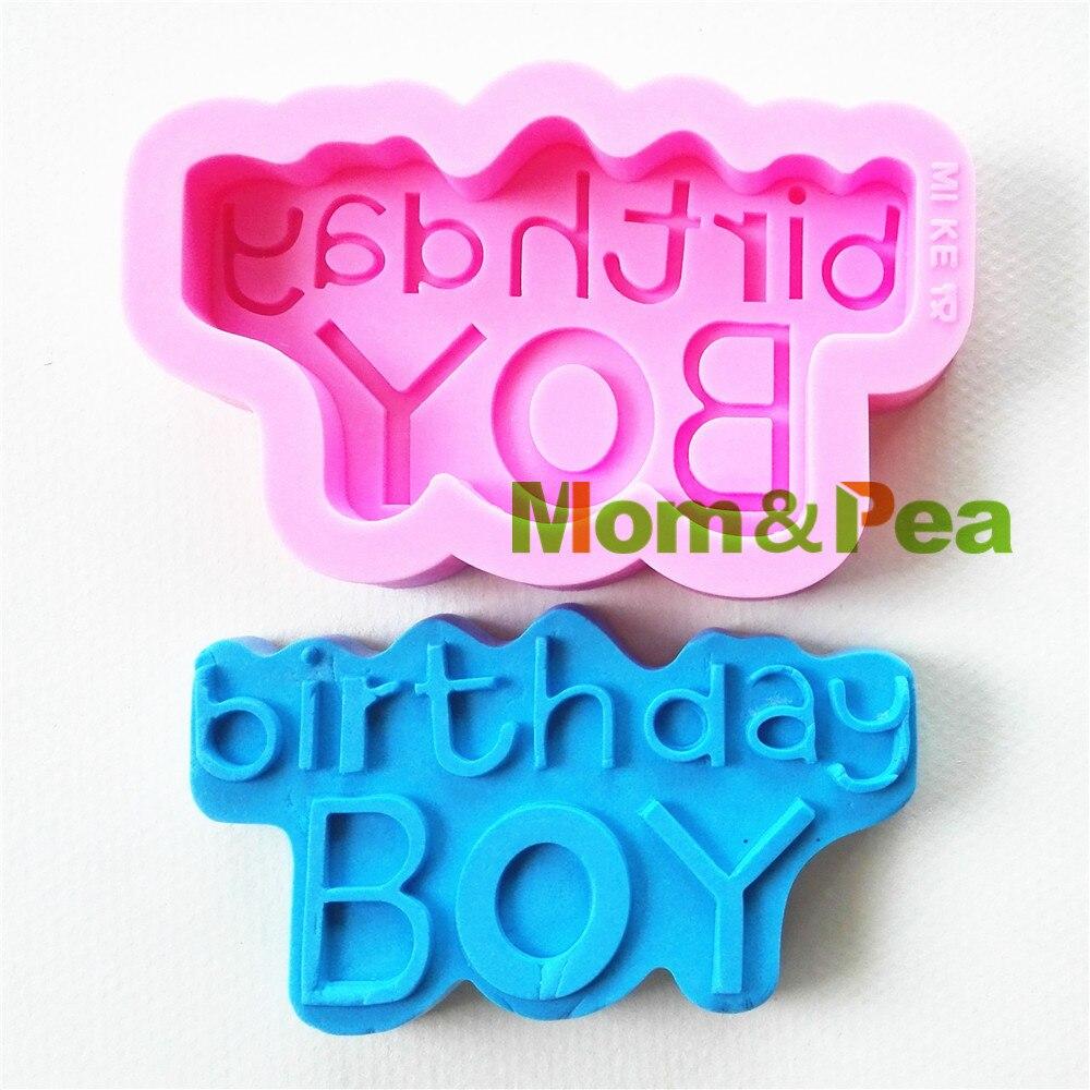 Мама и гороха 0823 Бесплатная доставка с днем рождения мальчика формы силиконовые формы украшения торта помадка торт 3D формы Еда Класс