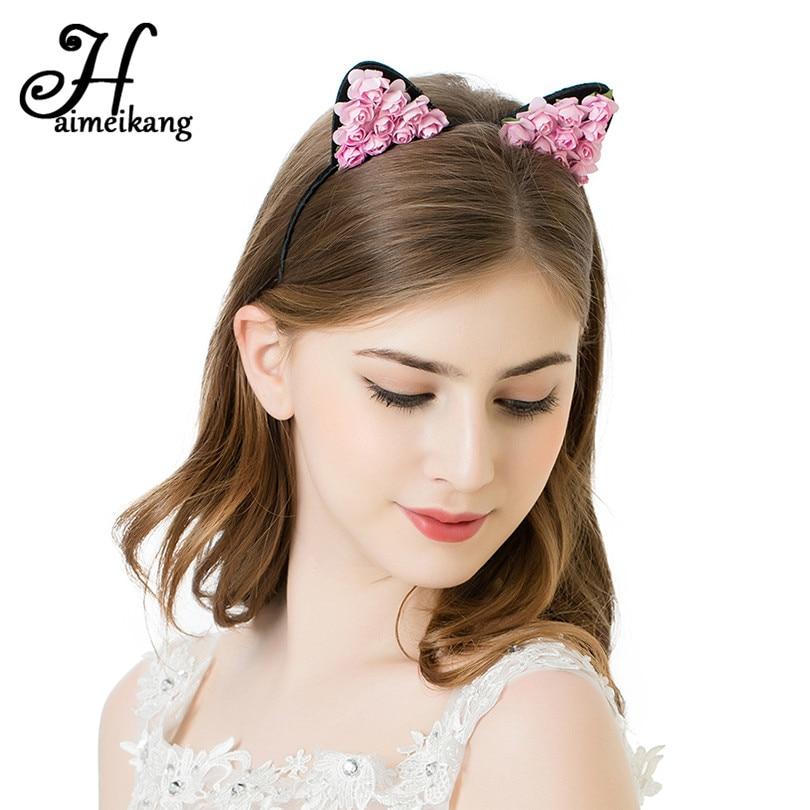 Hairmeikang Katės Ausys Plaukų lankas Mažas velnias Katės galvos - Drabužių priedai