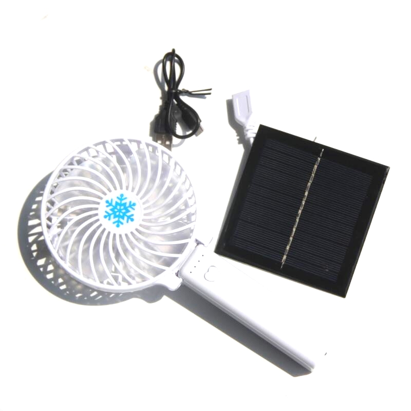 new 1w 5 5v solar powered panel fan for home office outdoor traveling fishing foldable handheld. Black Bedroom Furniture Sets. Home Design Ideas