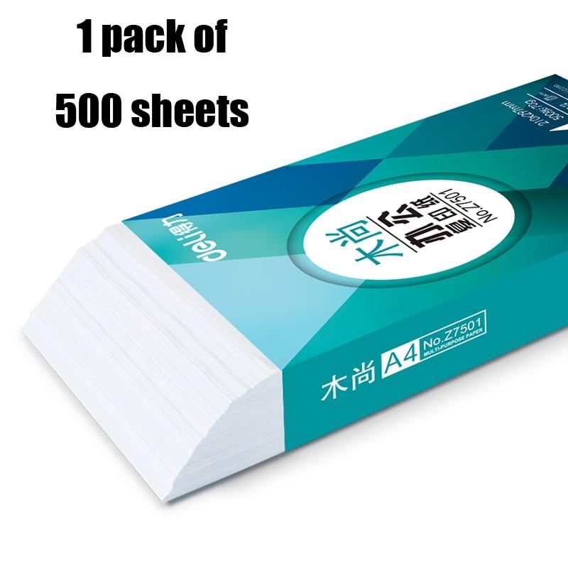 Купить с кэшбэком Deli 500 sheets A4 Heat Transfer Paper Inkjet Printers Light Color copy Transfers Photo double side Drawing Paper Ultra Thin