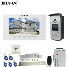 "JERUAN new 7"" LCD Video Door Phone System 700TVT Camera access Control System+Electric Drop Bolt lock+Remote control Unlock"