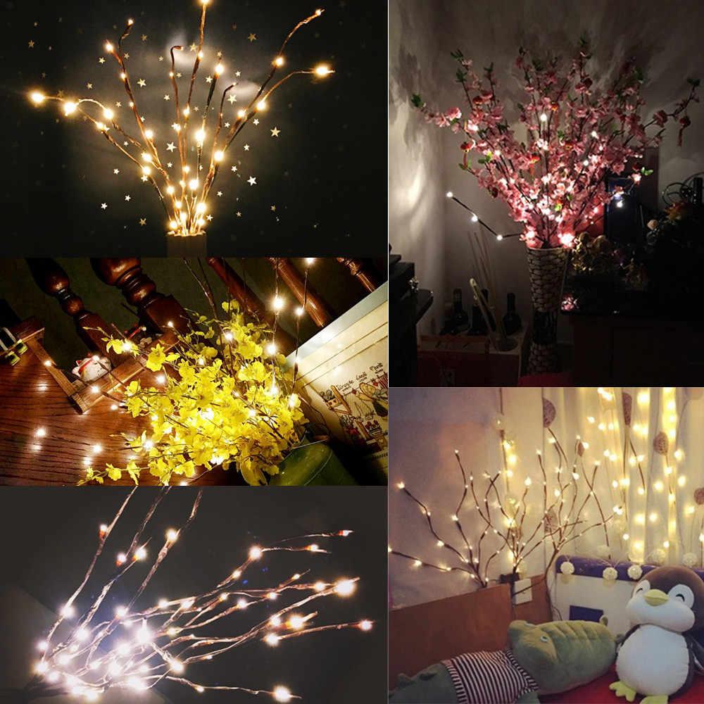 Светодиодный запасами ивовых деревьев светильник-ветка ваза подсветка в виде цветов 20 лампы искусственный цветы сад творческий Свадебные украшения теплый белый свет