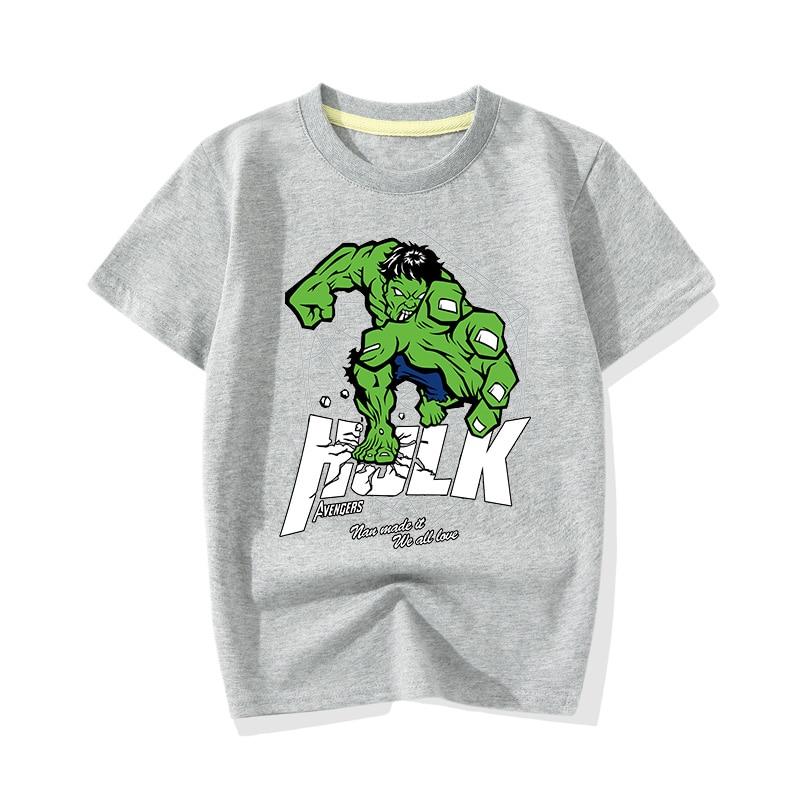 Big Boy Girl Summer Cartoon Hero Hulk Print T-shirts Clothes Children Baby Cute Pink Short Sleeve Tee Top Tshirts Clothing JY011 (5)