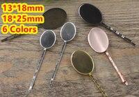 Cabochon 13*18mm, 18*25mm pad Fach Haarspangen Antike Bronze/Gold/Silber/schwarz Haar Bobby Pin clip, DIY Schmuck Zubehör 100 stücke