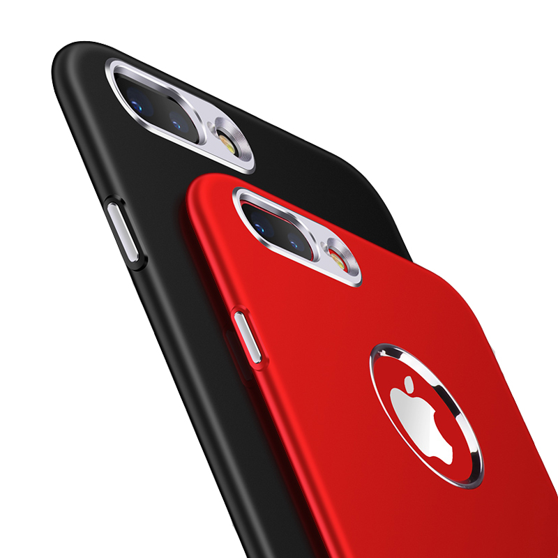 Phone Case For iPhone 7 Plus luxury Soft Silicone Metal Bumper Case ON THE For iPhone X 6 6S 7 8 Plus 5 5S SE Back Cover Coque in Fitted Cases from Cellphones Telecommunications