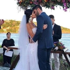 Image 4 - 2020 Modest Beach Wedding Dresses Sweetheart Appliques High Low Country Wedding Dress Bridal Gown Robe Mariage Vestido de Novia