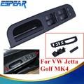 1 Unidades Window Master Switch Panel + Bisel + Mango Negro ajuste Para VW Jetta Golf MK4 Passat B5 1998-2004 ESPEAR #9174