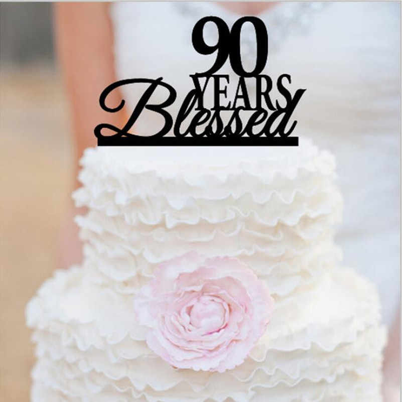 Swell 90Th Anniversary Cake Topper 90Th Birthday Cake Topper 90 Years Personalised Birthday Cards Veneteletsinfo
