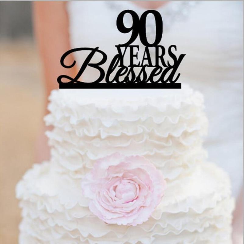 Peachy 90Th Anniversary Cake Topper 90Th Birthday Cake Topper 90 Years Personalised Birthday Cards Petedlily Jamesorg