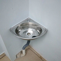 small angle single basin basin sink bathroom sink Stainless steel triangle basin thickening small sink LM3151505