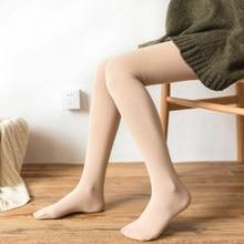 fdc2cb222 Mulheres Sexy Meias Patas Quentes Outono Inverno Além de Veludo  Espessamento Elástico Fino Femme Collant Meias Meia-calça Para 3.