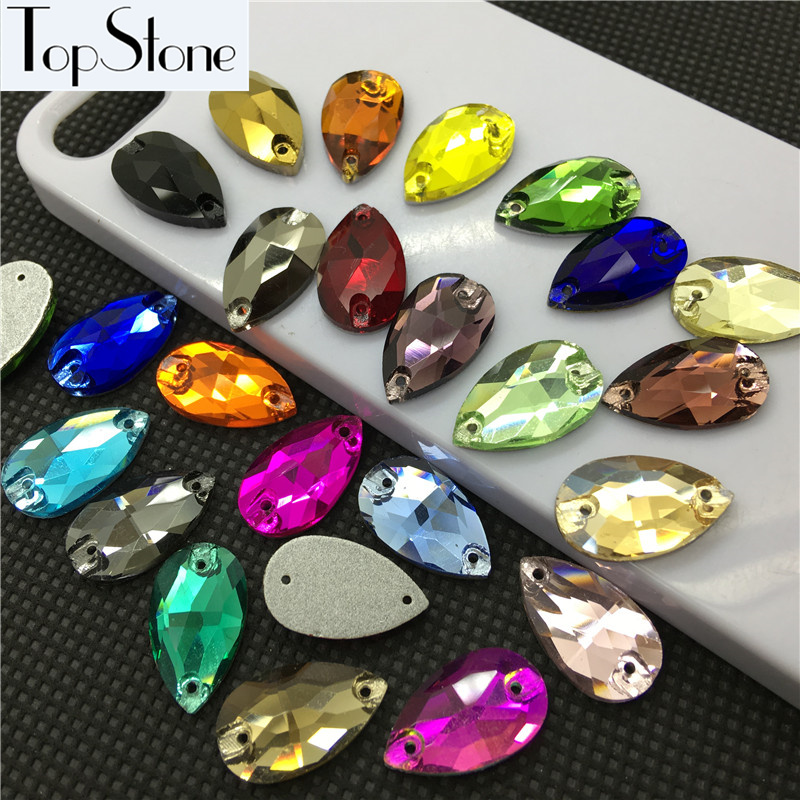 Detail Feedback Questions about All Sizes Colors Teardrop Sew On Rhinestones  Flatback 2 Holes Droplet Glass Sewing Crystal Beads for dress costume bags  ... d6eea6231870
