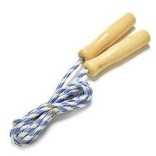 1 шт., Скакалка для занятий спортом, скакалка, тренировка, скакалка, случайный цвет, деревянная ручка, для детей, для детей, для занятий фитнесом, тренировочное оборудование