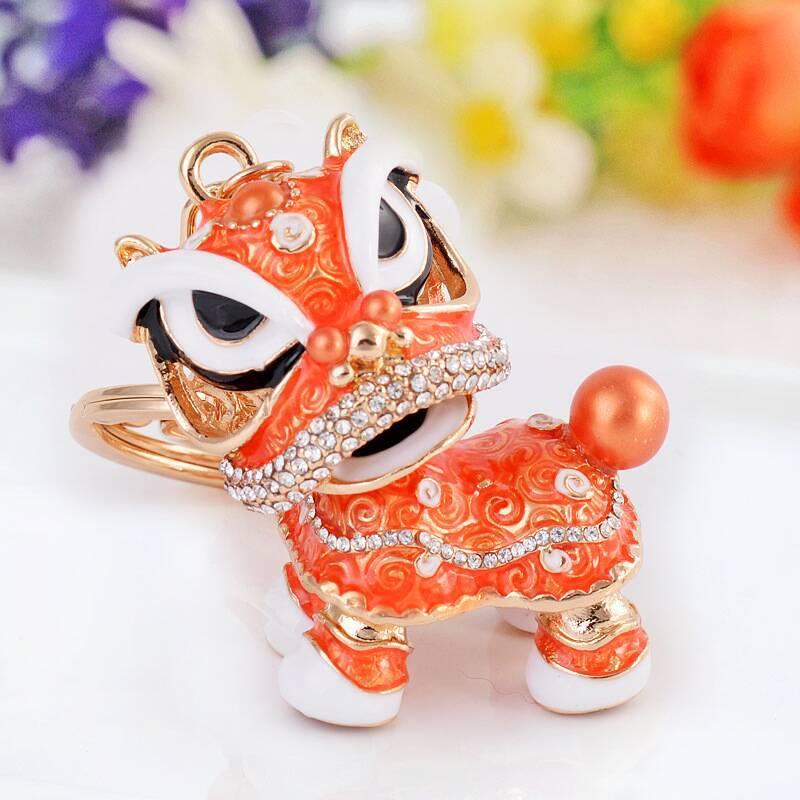 120 шт. специальный Китайская народная талисман Лев танец творческий эмаль металлические брелоки подарок для Для женщин девочек ювелирные украшения амулеты lin4117 - 3
