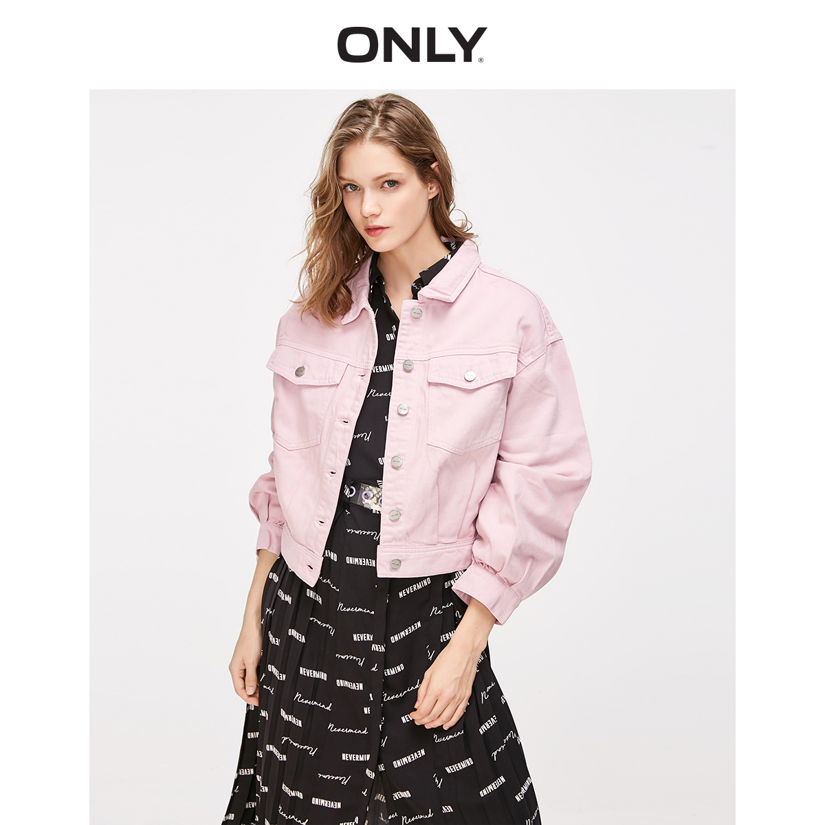 ONLY  Spring Summer New Women's Loose Fit BF Style Short Denim Coat |119154530