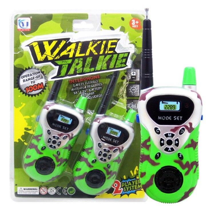 Лидер продаж 2 шт. рация Intercom электронный приемо-передающая радиоустановка общаться устройства, игрушка для детей, хороший подарок - Цвет: Армейский зеленый