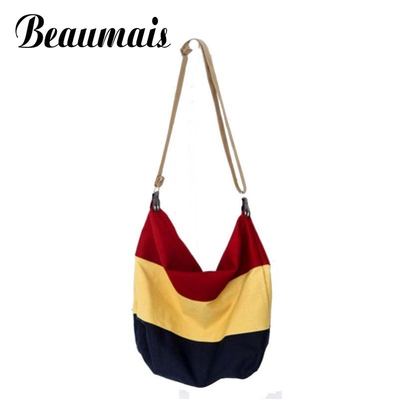 Beaumais Single Strap 2017  canvas bag Women messenger bags fashion school bags women handbag shoulder crossbody bags JG039-1