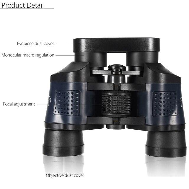 60X60 Optical Telescope Night Vision Binoculars High Clarity 3000M  5