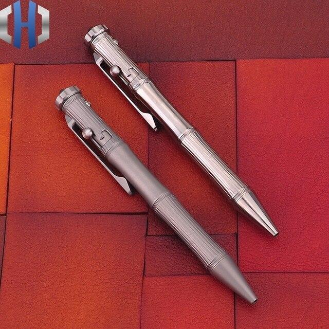 التيتانيوم التكتيكية القلم الدوران وظيفة EDC المحمولة نافذة كسر المحمولة الذكور والإناث الهدايا