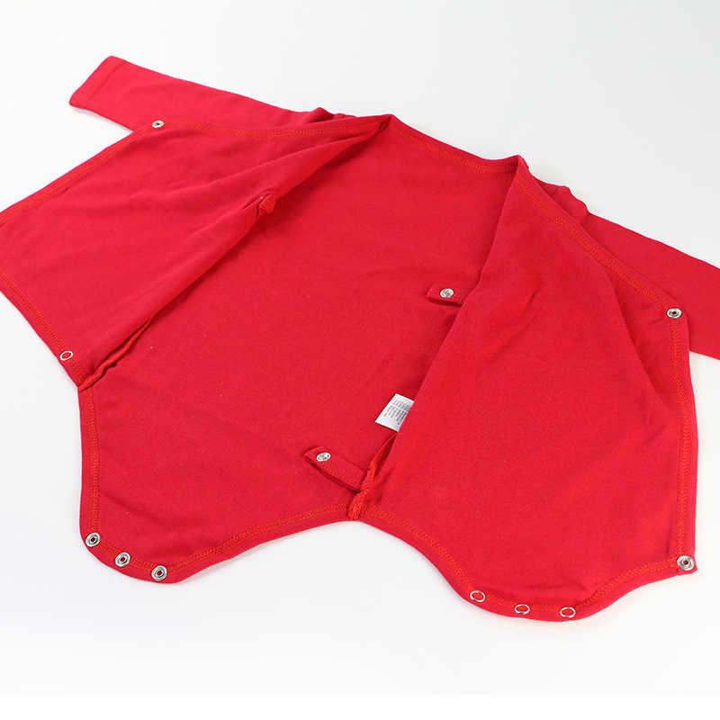 100% オーガニックコットン新生児服無地シンプルな男の赤ちゃん長袖-スナップロンパースジャンプスーツ