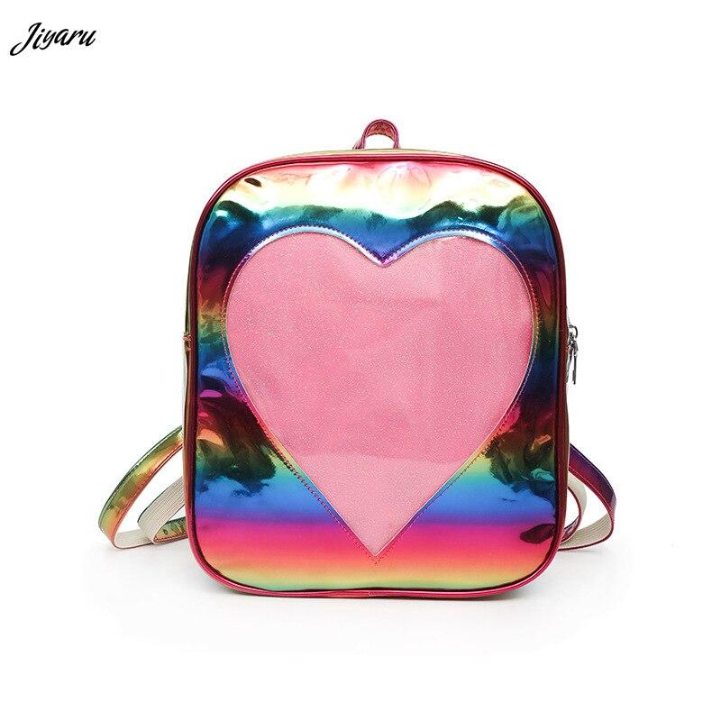 2019 New Girls Backpacks Summer Transparent Ita Bags Love Heart Shape Backpacks School Shoulder Bags for Women2019 New Girls Backpacks Summer Transparent Ita Bags Love Heart Shape Backpacks School Shoulder Bags for Women