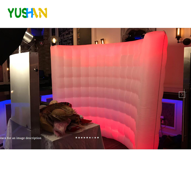 10ft Colorful changing LED Lighting Advertising Inflatable Photo Booth Wall backdrop Portable photo booth walls For2018 hot sale