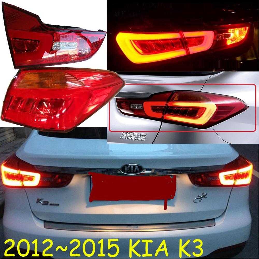 KlA K3 taillight,2012~2015,Free ship!4pcs/set,K3 rear light,Sorento,cerato,Forte,K3, K2, K5,K7 car styling kla forte taillight 2009 2012 free ship 2pcs forte fog light chrome forte tail lamp cerato k3 ceed sportage r