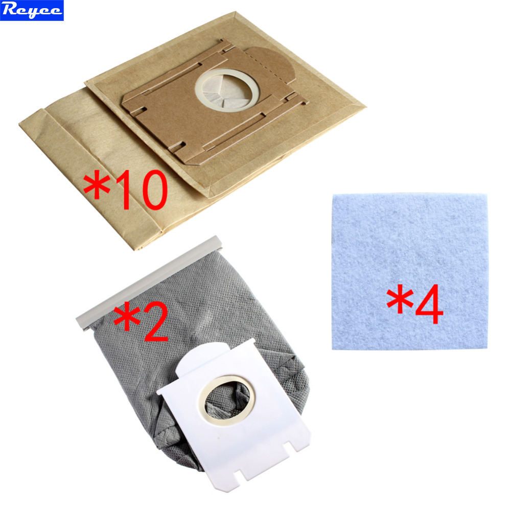 4pcs HEPA Filter +10pcs Cleaner Paper Bags + 2pcs Non Woven Bags For Philips FC8222 FC8224 FC8200 FC8436 dust bag HEPA Filter 10pcs washable vacuum cleaner bags dust bag replacement for philips fc8134 fc8613 fc8614 fc8220 fc8222 fc8224 fc8200 free post
