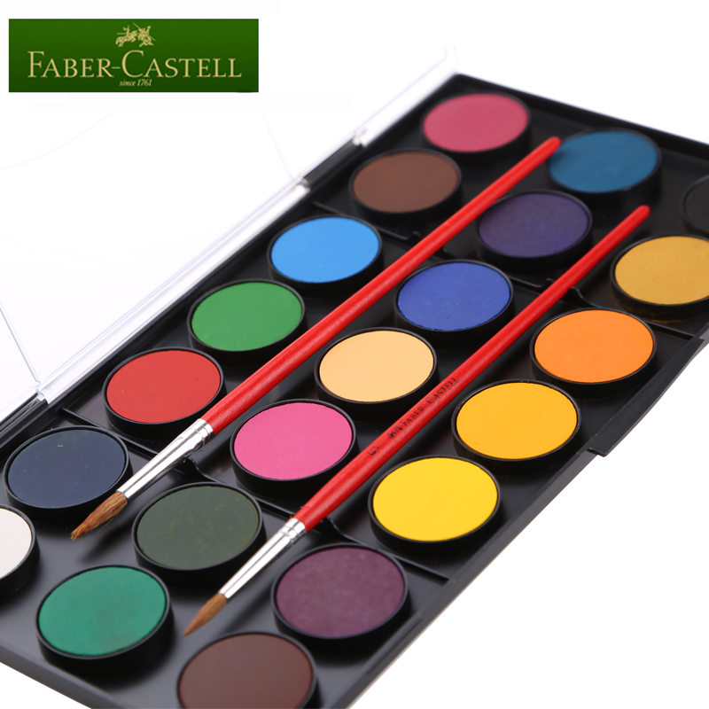 Freeshipping high-grade solid body FABERCASTELL watercolor pigment, colour fine and smooth Easy to carry 21 colour celtic patterns to colour