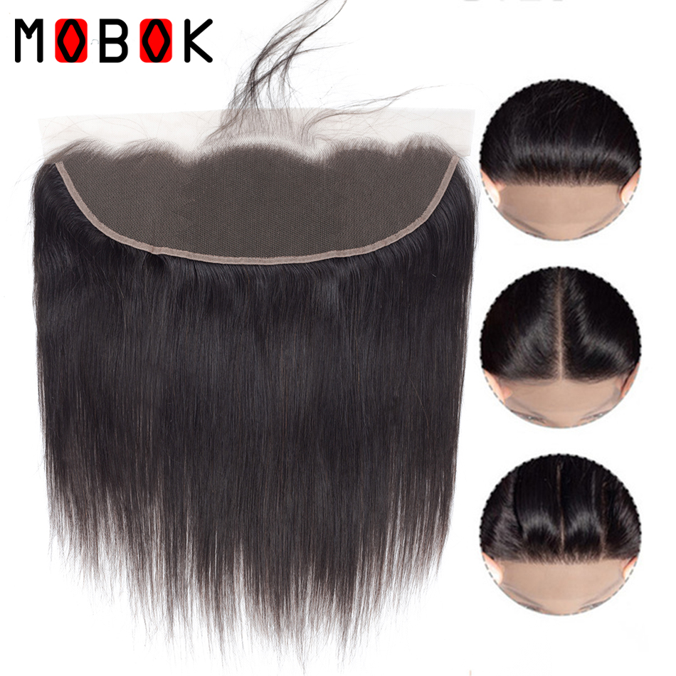 MOBOK Malaysia 100g/Piece Straight Lace Frontal Closure Human With Baby Hair