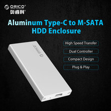 ORICO MSA-UC3 Aluminum 5Gbps USB3.1 Type-C to mSATA 3.0/2.0 HDD Enclosure Box Case for 1.8  inch SSD Plug and Play