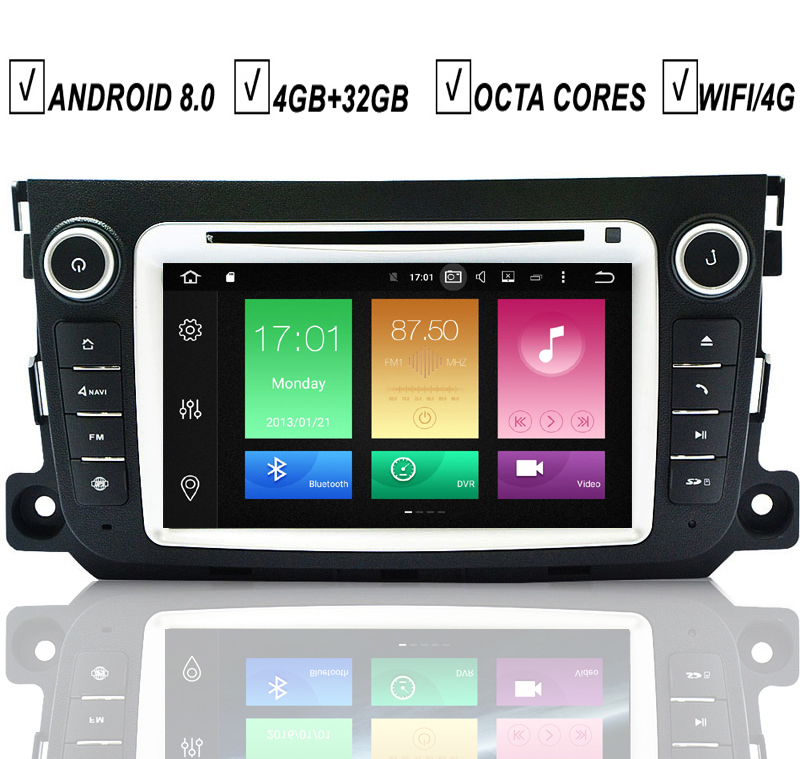 Car DVD GPS Player Auto Android 8 0 For Mercedes Benz SMART Fortwo 2011 2012 2013
