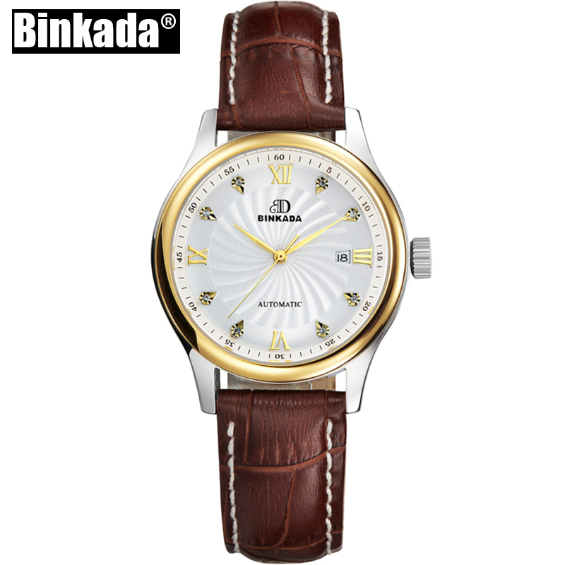 BINKADA Function Luxury Ladies Watch Brand Women Watches Fashion Quartz Wristwatch Montre Femme Clock Female Reloj Mujer health care heating jade cushion natural tourmaline mat physical therapy mat heated jade mattress high quality made in china